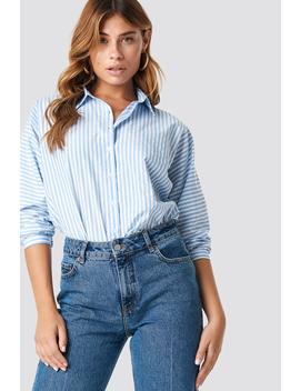 Striped Quarter Sleeve Shirt by Trendyol