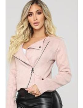 Shirley Suede Jacket   Blush by Fashion Nova