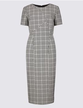 Checked Short Sleeve Bodycon Dress by Marks & Spencer