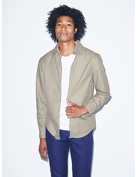 Twill Tab Collar Shirt by American Apparel