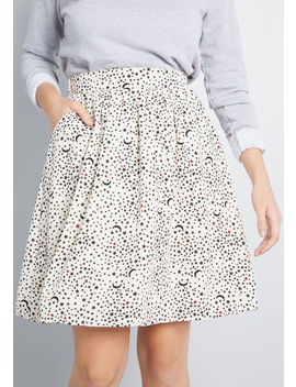 Casual Creativity Pocketed Skirt by Modcloth
