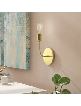 George Oliver Wallen Single 1 Light Armed Sconce & Reviews by George Oliver