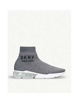 Nora Logo Detail Sock Trainers by Dkny