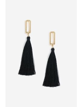 **Oval And Tassel Earrings by Topshop