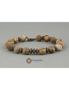 Bracelet With Jasper Beads 000 767 by Etsy