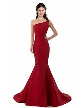 Coloredress Color E Dress Design Brief Elegant Mermaid One Shoulder Evening Dress by Coloredress