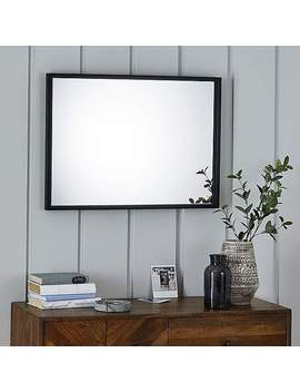 Essentials Over Mantle Small Black Mirror by Dunelm