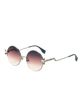 Ff 0243/S Silver Tone Round Sunglasses by Fendi