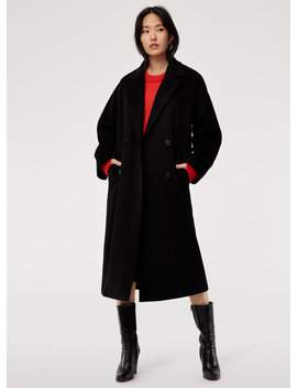 Jerome Wool Coat   Oversized, Virgin Wool, Double Breasted Coat by Babaton