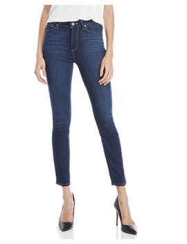 Hoxton Dark Wash High Waisted Ankle Skinny Jeans by Paige