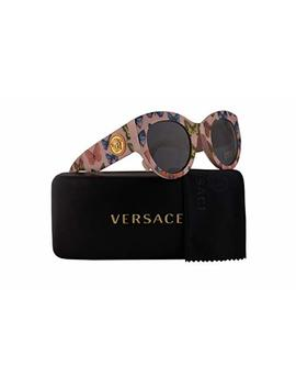Versace Ve4353 Sunglasses Butterfly Pink W/Grey Lens 51mm 528687 Ve 4353 by Versace