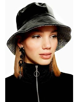 Vinyl Check Bucket Hat by Topshop