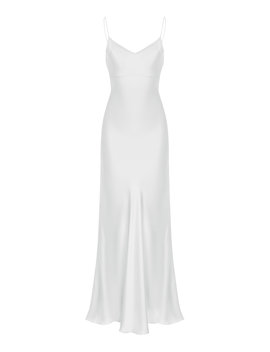 Draped Silk Sheath Dress by Rasario