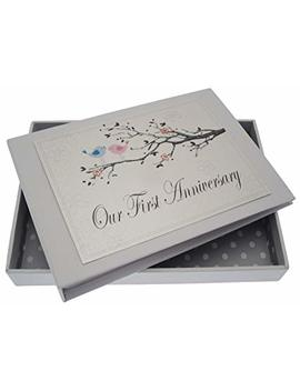 White Cotton Cards 1st Anniversary, Mini Photo Album, Love Birds by White Cotton Cards