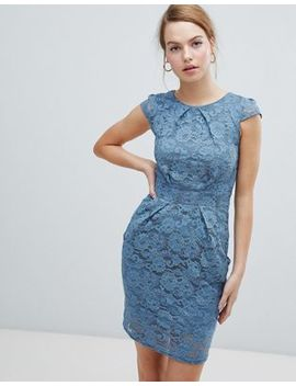 Qed London Lace Tulip Dress by Dress