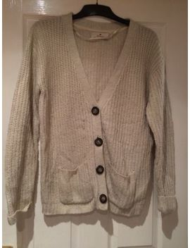 Size 16 Cream Chunky Knit Cardigan Beige Knitted Winter Thick by Ebay Seller