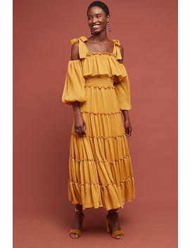 Nadine Open Shoulder Dress by Misa