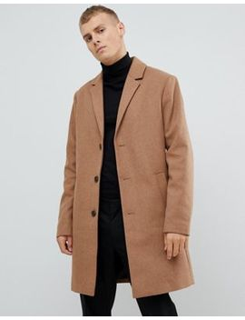 Kiomi Wool Blend Coat In Camel by Kiomi