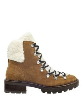 Capell Shearling Lace Up Hiker Boot by Marc Fisher Ltd