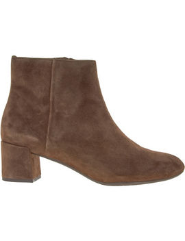 Brown Suede Ankle Boots by Unisa