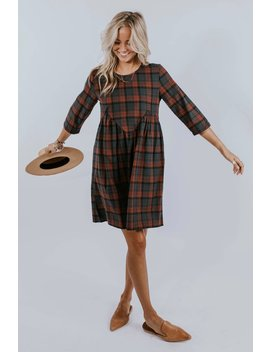 Peppermint Plaid Dress by Roolee