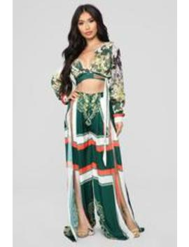 Flower Vibes Pant Set   Multi by Fashion Nova