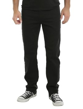 Xxx Rude 32 Inch Inseam Black Slim Straight Jeans by Hot Topic