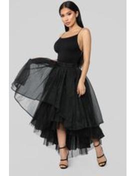 Daisy Ruffle Midi Skirt   Black by Fashion Nova