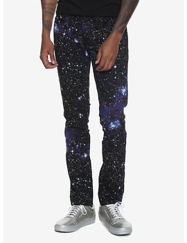 Xxx Rude Galaxy Print 32 Inch Inseam Skinny Jeans by Hot Topic