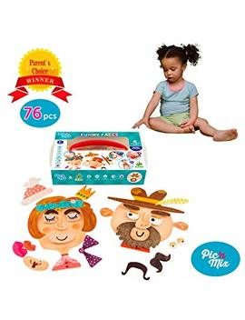 Picnmix Educational Toys Games For Toddler   Preschool Learning Toys   Funny Faces Toy For 2 Or 3 Year Old Boys And Girls   Eco Friendly Plastic Learning Games   Educational Board Games by Picnmix