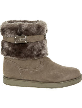 Grey Faux Fur Boots by Guess