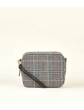Black Check Boxy Cross Body Bag by New Look