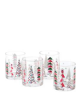 New Crazy Good Cheer Double Old Fashioned Glasses, Set Of 4 by Neiman Marcus