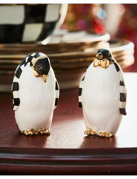Courtly Check Penguin Salt & Pepper Shakers by Mac Kenzie Childs