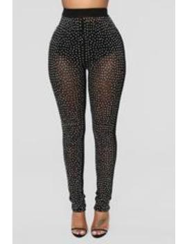 Extra Extra Shine Mesh Leggings   Black by Fashion Nova