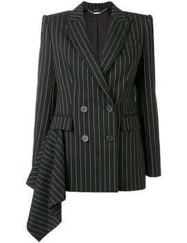 Ruffle Detail Pinstripe Blazer by Alexander Mc Queen