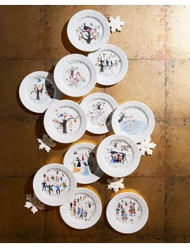 Twelve Days Of Christmas Cocktail Plate Set, Set Of 12 by Juliska