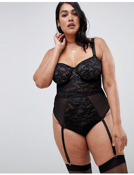 Asos Design Curve Khloe Lace Underwire Body With Removable Straps by Asos Design