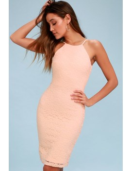 Magic Of Love Blush Pink Lace Bodycon Dress by Lulus