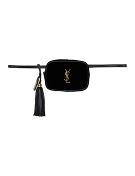 Black Velvet Lou Belt Bag by Saint Laurent