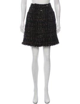 Bouclé A Line Skirt by Chanel