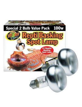 Zoo Med Repti Basking Spot Bulb, E27 Threaded Base, Set Of 2 Bulbs by Zoo Med