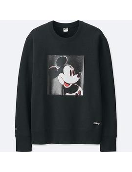 Men Mickey Art Sweatshirt by Uniqlo