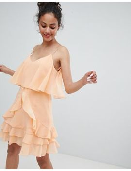 Asos Design Ruffle Layer Cami Mini Dress by Asos Design