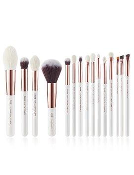 Jessup 15 Pcs Pearl White/Rose Gold Professional Makeup Brushes Set Make Up Brush Tools Kit Foundation Powder Definer Shader Liner T222 by Jessup