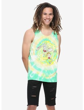 Rick And Morty Portal Tie Dye Tank Top by Hot Topic