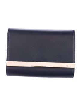 Leather Mini Flap Clutch W/ Tags by Fendi