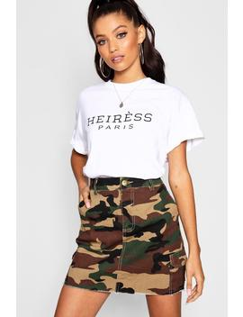 Heiress Paris Slogan T Shirt by Boohoo