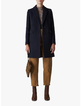 Whistles Easy Coat, Navy by Whistles