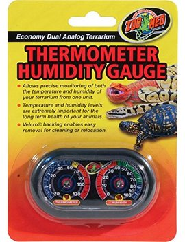 Zoo Med Economy Analog Dual Thermometer And Humidity Gauge, 6 X 4 by Zoo Med